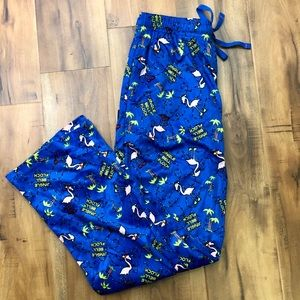 NWOT Hawke & Co Jingle Bell Flock PJ Pants Soft M